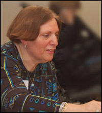 Greer Tavel at an Advisory Council Meeting.