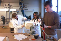 Students working in the P&O lab