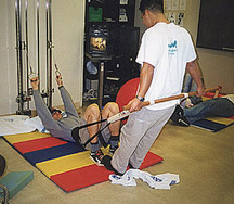 photo of students in an exercise training class