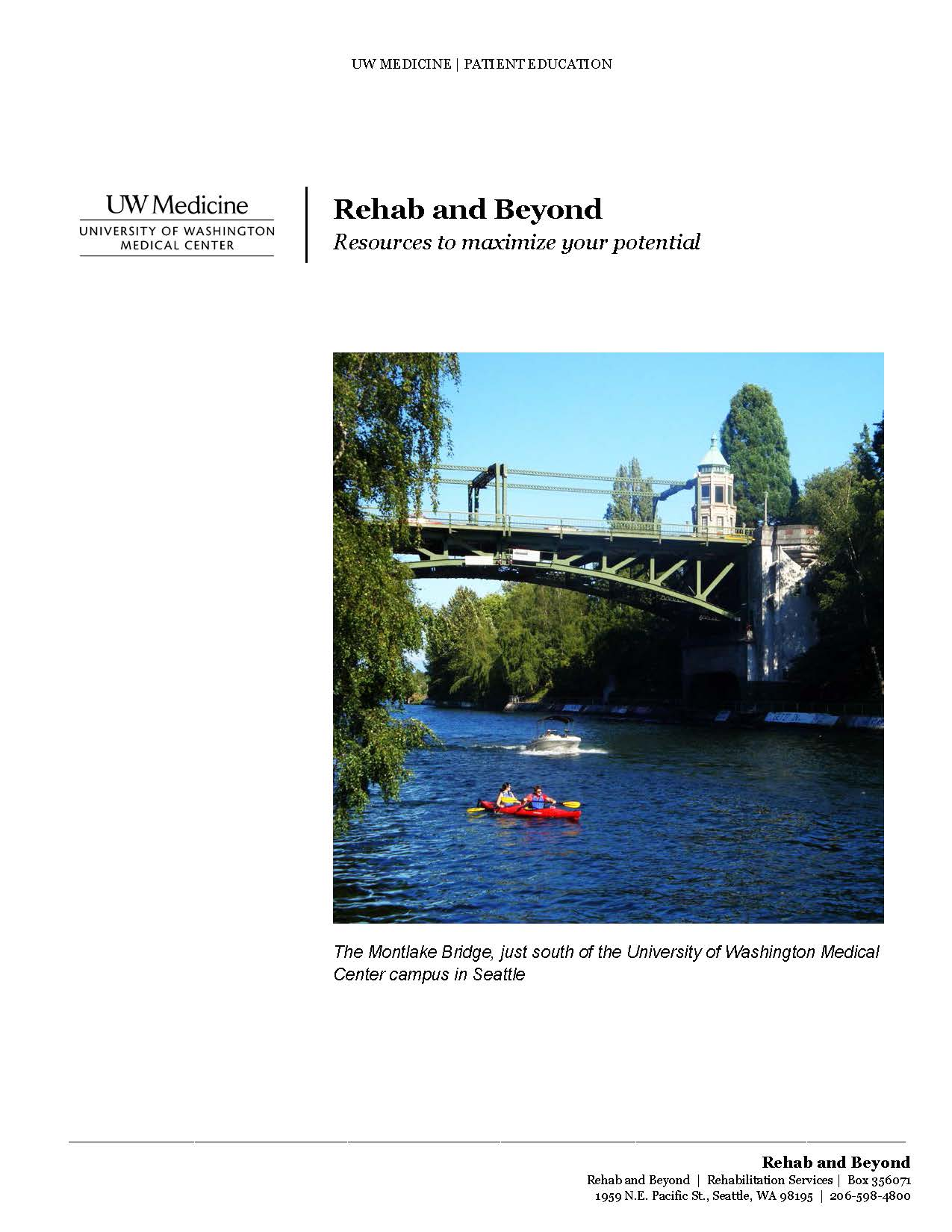 The cover of the Rehab and Beyond Manual