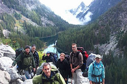 group photo of residents on a hike in the North Cascades